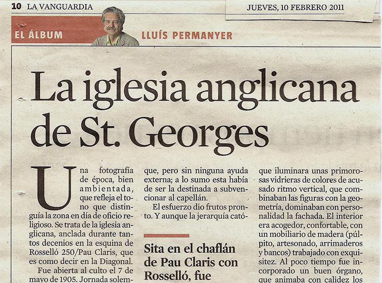 St George's featured in La Vanguardia